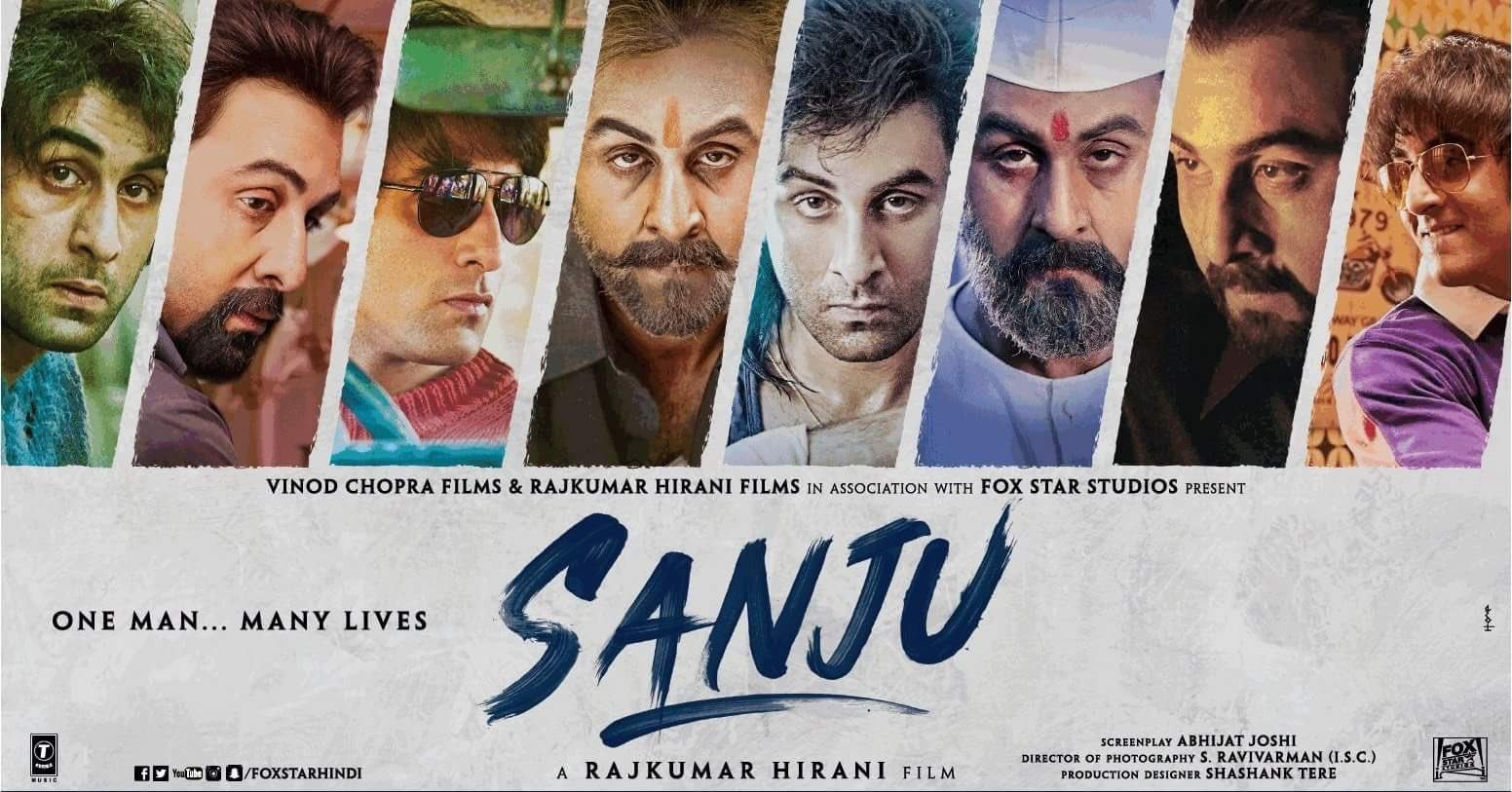 Sanju (2018) Hindi Movie 720p HDRip 700MB ESub